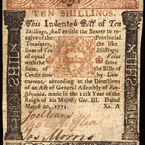 Ten Shillings, 1771