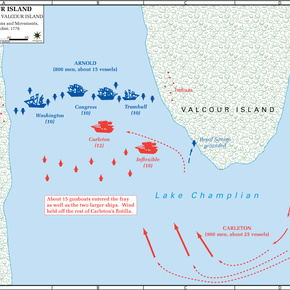 The Battle of Valcour Island, 11-Oct-1776