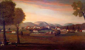 Landscape View of Old Bennington, 1798