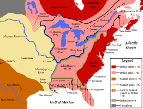 North America after the Seven Years War, 1763