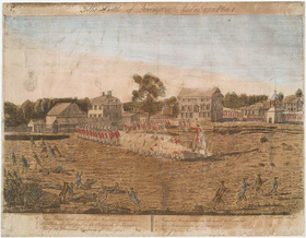 Plate I. The Battle of Lexington, April 19th, 1775