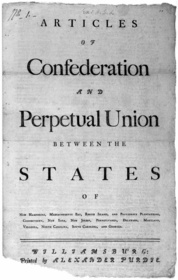 Articles of Confederation, 1777 - pg. 1