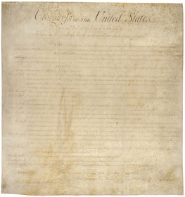 Bill of Rights, 1791 - engrossed copy