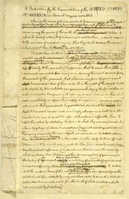 "Declaration of Independence, 1776 - ""Rough Draft,"" pg. 1"