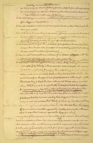 "Declaration of Independence, 1776 - ""Rough Draft,"" pg. 3"