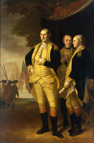Washington, Lafayette, and Tilghman at Yorktown, 1784