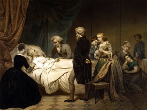 Life of George Washington - The Christian Death, c. 1853