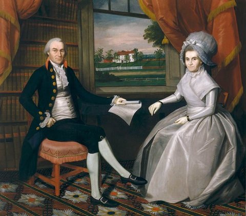 Oliver and Abigail Wolcott Ellsworth, 1792