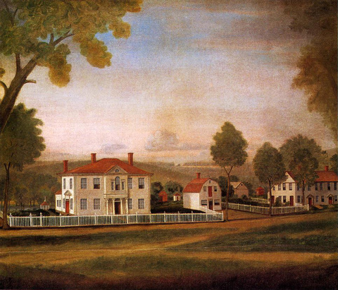Houses Fronting New Milford Green, c. 1796