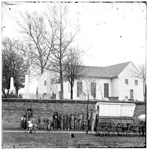 St. John's Church and Graveyard from Street, 1865