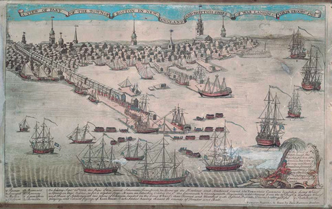 A View of Part of the Town of Boston in New-England, 1770