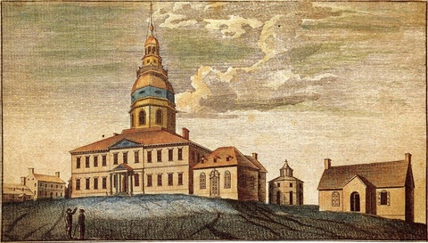 A Front View of the State-House at Annapolis, 1789