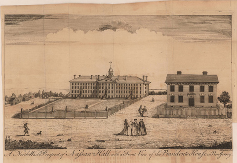 A North-West Prospect of Nassau Hall, 1764