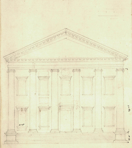 Design for Virginia Capitol - End Elevation, 1785