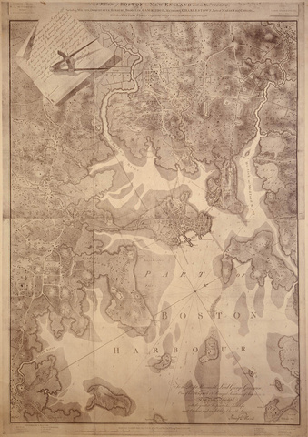 A Plan of Boston in New England with its Environs, 1777