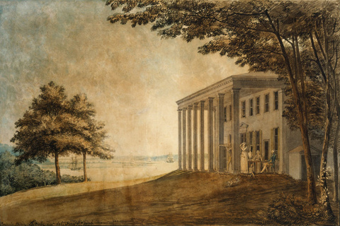 A View of Mount Vernon with the Washington Family, 1796