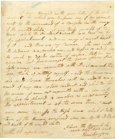Letter to Henry Knox, Secretary of War, 1792