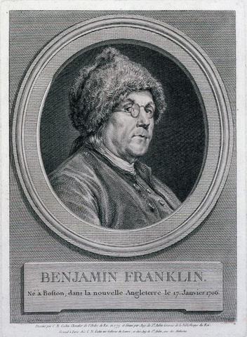 Portrait Print of Benjamin Franklin, 1777