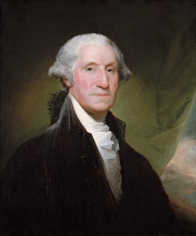 George Washington (The Gibbs-Channing-Avery Portrait), begun 1795