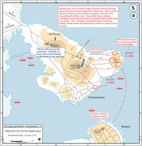 The Battle of Bunker Hill, the British Plan, 17-Jun-1775