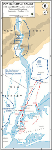 The Battle of Long Island, Subsequent Operations, Sep—Oct-1776