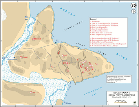 The Battle of Stony Point, Situation 15—16-Jul-1779