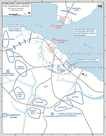 The Yorktown Campaign, the Siege, 6—20-Oct-1781