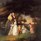 The Artist and His Family, 1795, by James Peale