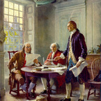 Writing the Declaration of Independence, 1776 (c. 1921)