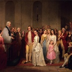 The Marriage of Washington to Martha Custis, 1849