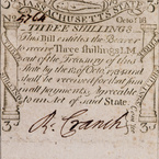 Three Shilling Note, 1778