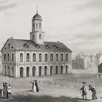 View of Faneuil-Hall in Boston, Massachusetts, 1789