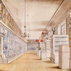 The Long Room, Interior of Front Room in Peale's Museum, 1822
