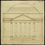 Design for University of Virginia - South Elevation, 1819