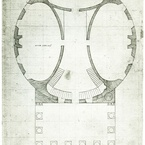 Design for University of Virginia - Rotunda Ground Floor, c. 1821