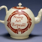 "Teapot, ""Stamp Act Repeal'd,"" 1766"