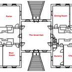 Stratford Hall - Main Floor Diagram