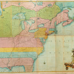 A Map of the British and French Dominions in North America, 1755