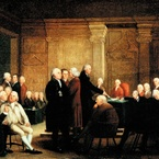 Congress Voting Independence, 1784—88; completed 1801