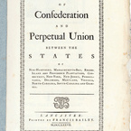 Articles of Confederation, 1777 - First Printing