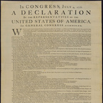 Declaration of Independence, first printing on 4 July 1776