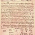 Declaration of Independence, 1776, engrossed copy