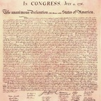 Declaration of Independence, 1776 - engrossed copy