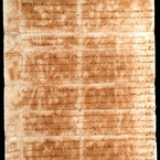 Declaration of Independence, 1776 - copy of final draft, pg. 1