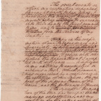 Resignation to Congress, 1783 - side 1