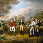 The Surrender of General Burgoyne at Saratoga, 1821