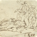 The Death of General Montgomery in the Attack on Quebec, 1785