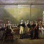 The Resignation of General Washington, 1824