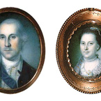George and Martha Washington, 1776