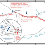 Lexington and Concord, Initial Dispositions, 19-Apr-1775